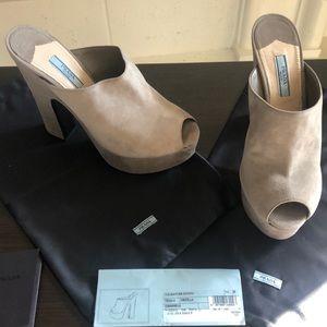 Grey Prada wedge shoes